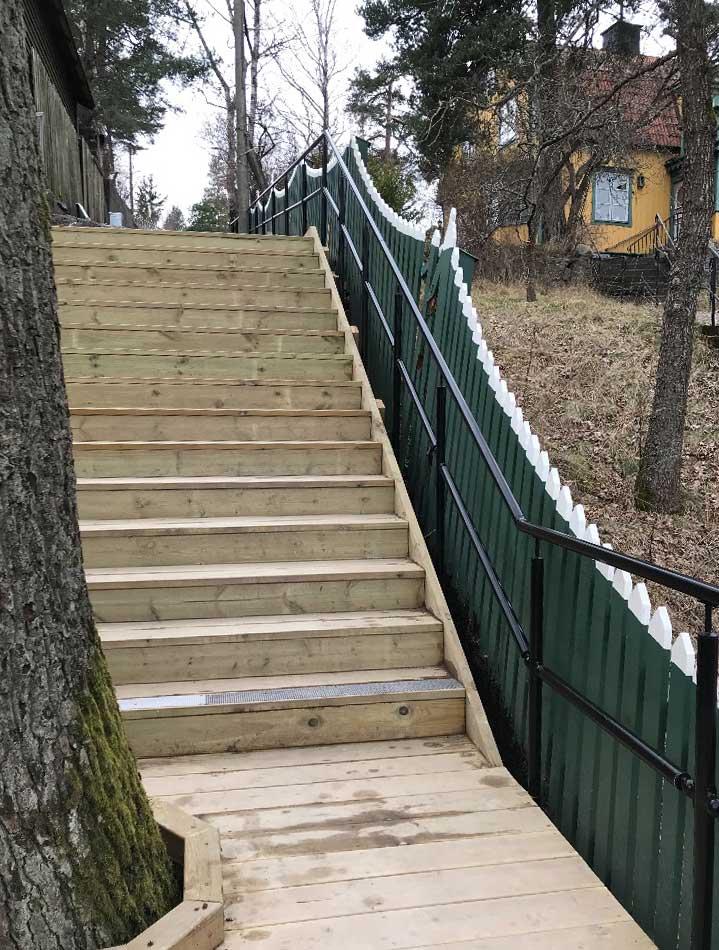 Arkitektritad trappa